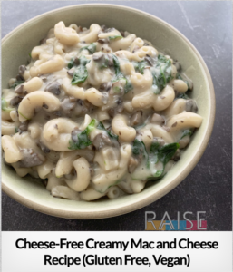 "Cheese-Free Creamy ""Mac-n-Cheese"" GF V T8"