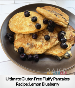 Fluffy Lemon Blueberry Pancakes GF V T8 RSF